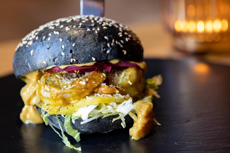 Sudhaus Burger des Monats Juni Shrimps Burger